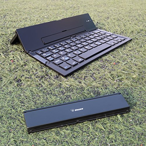 Folding Bluetooth Keyboard,Geyes Foldable Wireless Keyboard with Portable Pocket Size, Aluminum Allo - http://coolthings.us