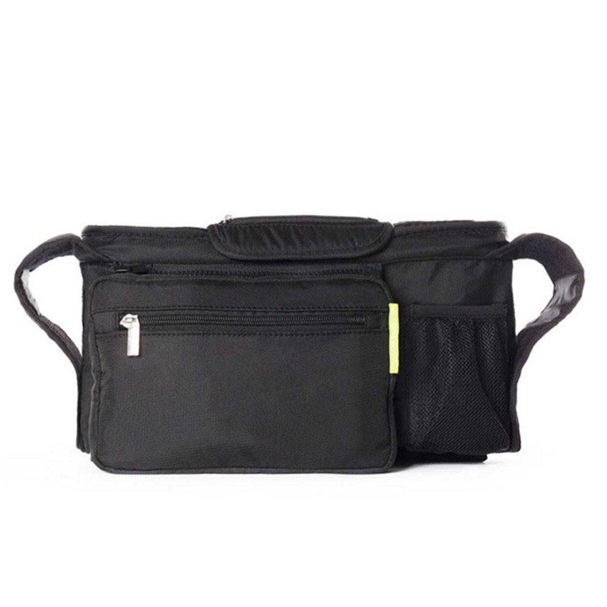 Baby Multifunction Bag, Pram Buggy Organiser, Pushchair Hanging Storage Bag / Diaper Bag Insert Stroller Organizer,Buddy Storage Bag with Mobile Phone Holder Shoulder Strap, Pram and Buggy Accessory Jiele