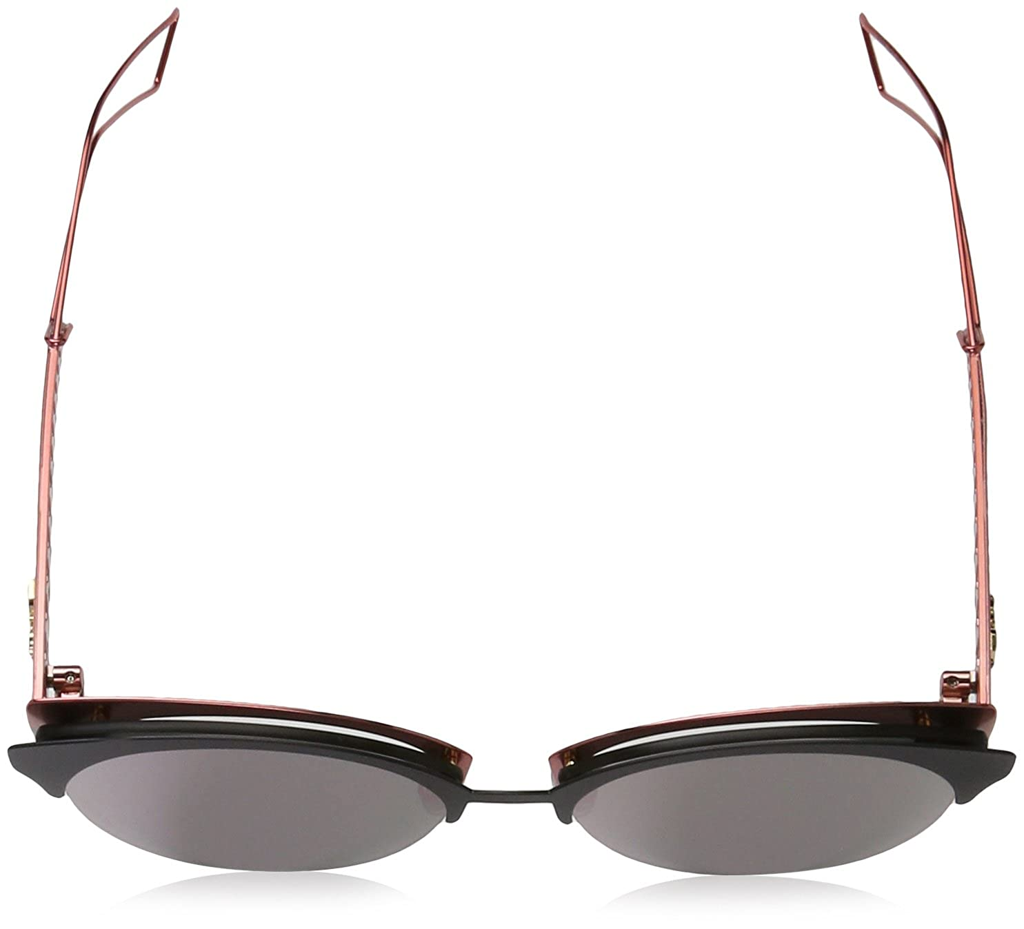 3ddacfef2c5 Amazon.com  Christian Dior Diorama Club Sunglasses Matte Black Red Grey  Rose Gold (EYM AP)  Clothing