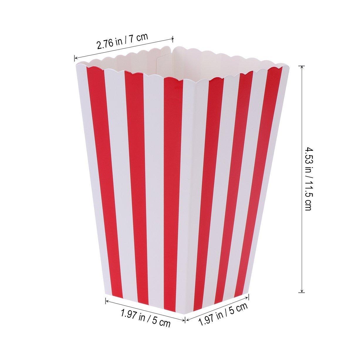 Cajas de Palomitas, Ouinne 24PCS Popcorn Boxes Maíz Envases del Sostenedor Cajas de Cartón de Bolsas de Papel para el Partido (Rojo): Amazon.es: Juguetes y ...
