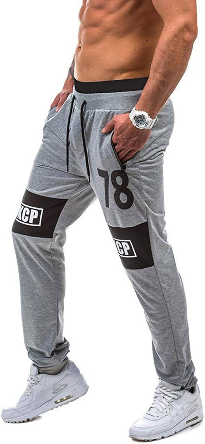Colmkley Mens Fashion Sport Jogging Fitness Pants Casual Drawstring Sweatpants