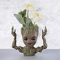 Zesta Guardians of The Galaxy Baby Groot Flowerpot / Groot Pen Stand / Baby Look Innocent Groot Action Figure / Toy (Hands-Up) -GR0004
