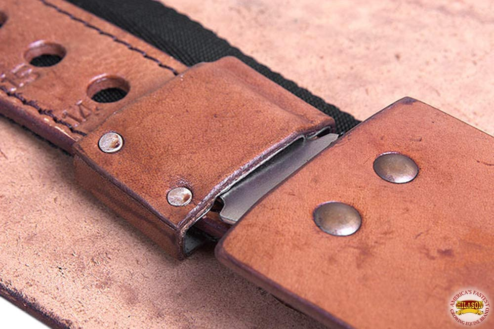 Hilason Leather Youth Saddle Replacement Fender Pair Hobble Strap Tan U-N222