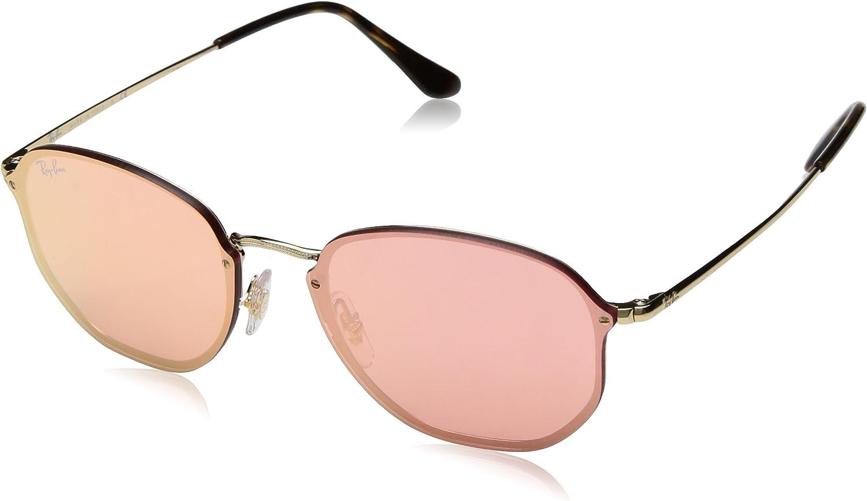 RAY-BAN 3579n Gafas de sol, Gold, 58 Unisex-Adulto