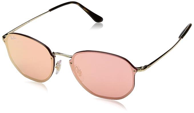 88f89792b36cd Ray-Ban Blaze Hexagonal Non-Polarized Iridium Square Sunglasses GOLD 58.0 mm