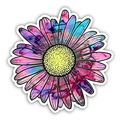 Vinyl Junkie Graphics Daisy Flower Sticker for Car Truck Windows Laptop Any Smooth Surface Waterproof (Cotton Candy): Automotive
