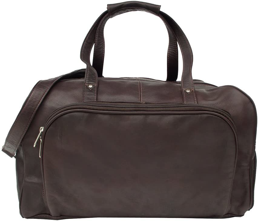 Saddle One Size Piel Leather Deluxe Carry-On Duffel