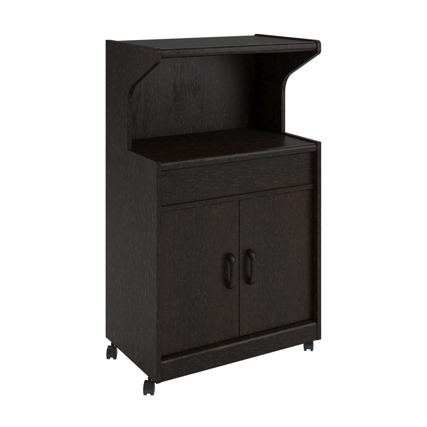 Ameriwood Home Reggie Microwave Cart with Shelf, Espresso Dorel Home Furnishings 5284012PCOM