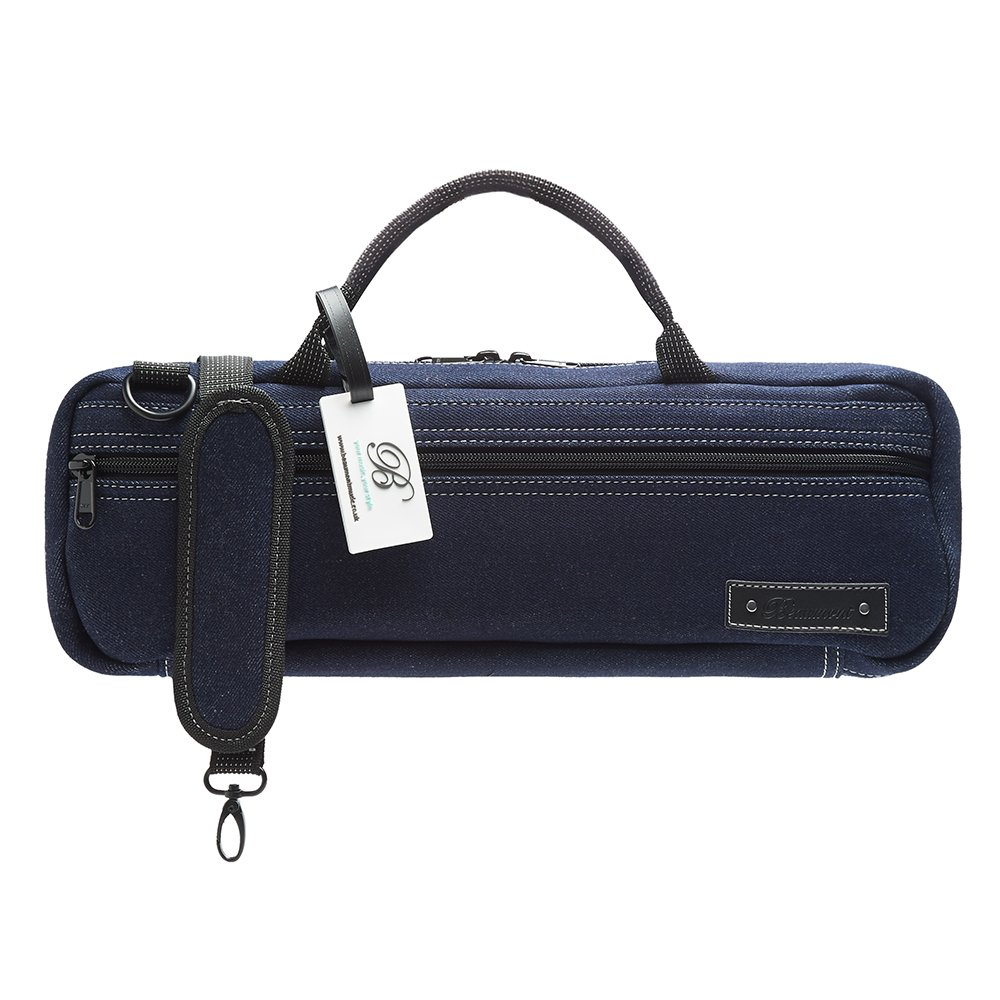 Flute Case Cover - Beaumont C-Foot Flute Bag - Blue Denim