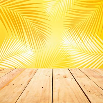 8x8FT Vinyl Backdrop Photographer,Banana Leaf,Coconut Pine Background for Baby Shower Bridal Wedding Studio Photography Pictures