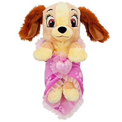 Disney Baby Lady from Lady and the Tramp in a Blanket Plush Doll: Toys & Games