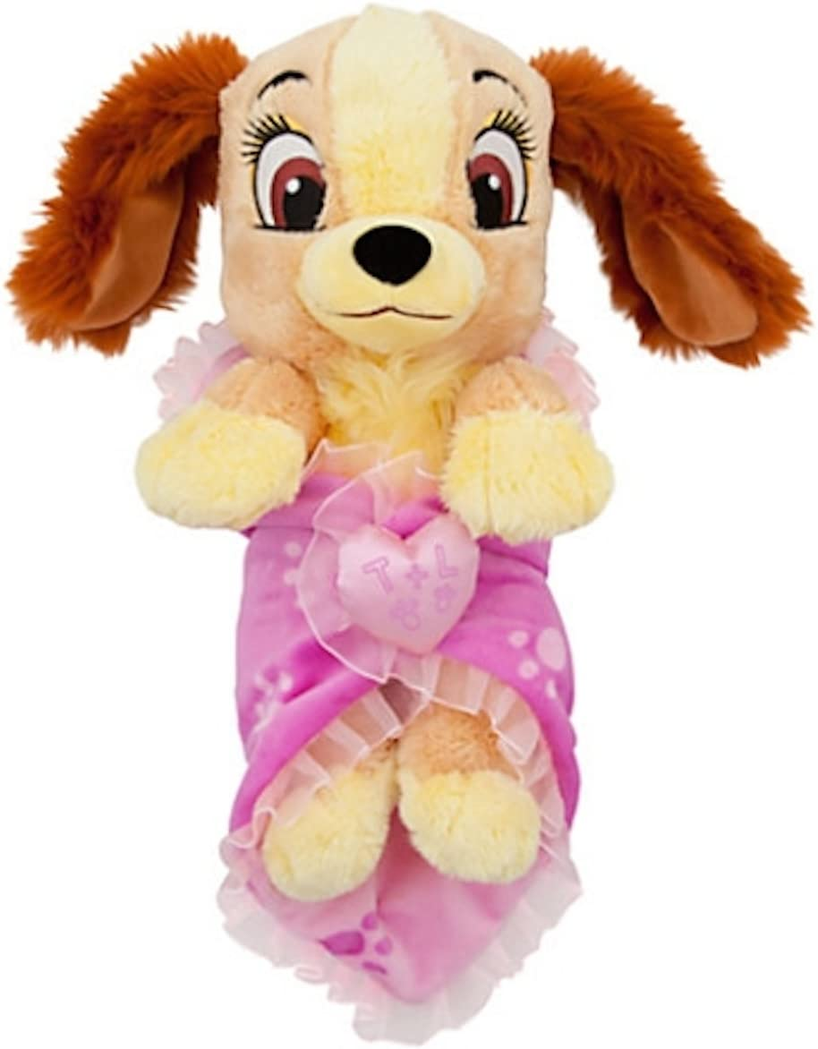Amazon Com Disney Baby Lady From Lady And The Tramp In A Blanket Plush Doll Toys Games
