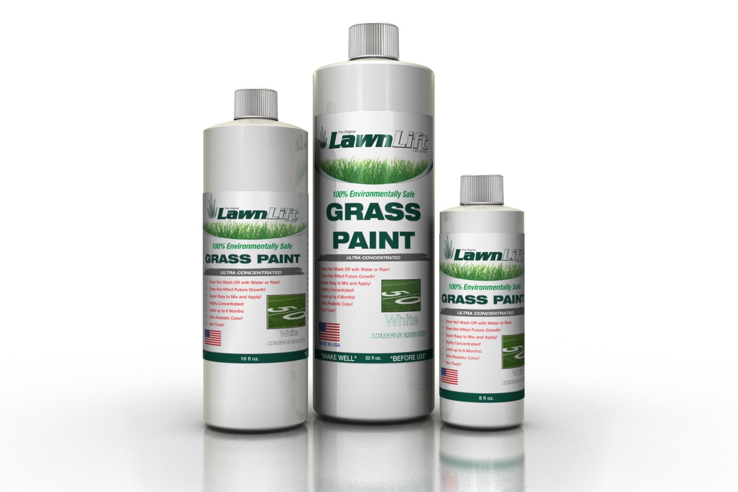 Lawnlift Ultra Concentrated (White) Grass Paint 1 Gallon = 11 Gallons of Product.