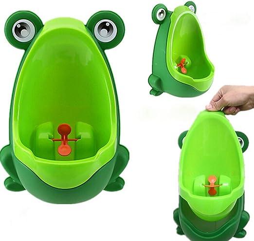 Depory Orinal,Orinal infantil de rana para ni/ños//beb/é de Color Verde//Naranja//Marr/ón