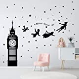 decalmile Peter Pan Characters Wall Decals Big