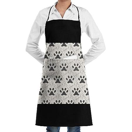 Delantal de chef de cocina ajustable con estampado de patas con ...