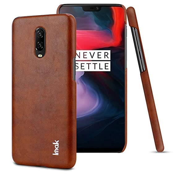 info for 51371 2c110 OnePlus 6T Case,Leather Case Slim Back Cover [Vintage Classic Series]  Luxury Premium for OnePlus 6T (Brown)