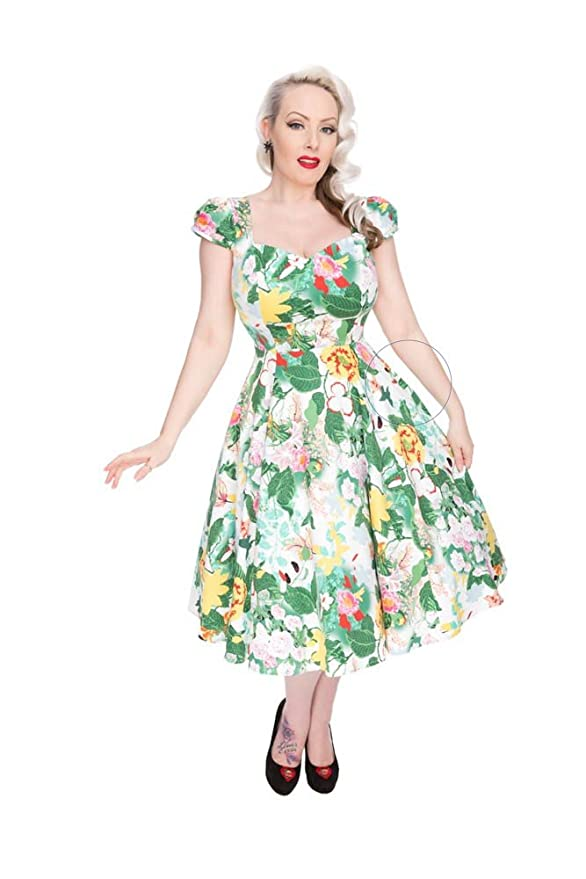 500 Vintage Style Dresses for Sale | Vintage Inspired Dresses Hearts & Roses Fern Garden Day Dress (Shipped from The US and US Sizes) $64.88 AT vintagedancer.com