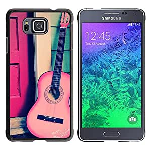 Paccase / SLIM PC / Aliminium Casa Carcasa Funda Case Cover para - Play Classical Travel Free Music Instrument - Samsung GALAXY ALPHA G850
