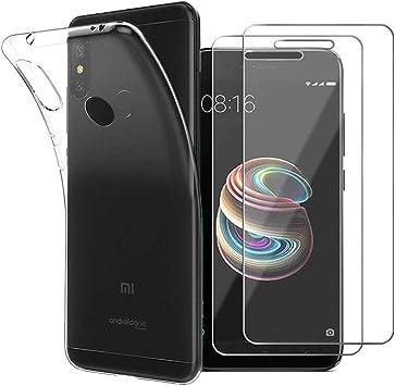 Meeter Funda Xiaomi A2 Lite, Transparente Silicona Funda para ...