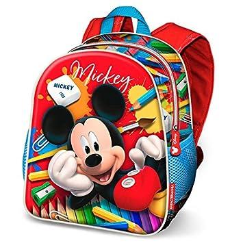 Karactermania Mickey Mouse Crayons Mochila Infantil, 30 cm, Rojo: Amazon.es: Equipaje
