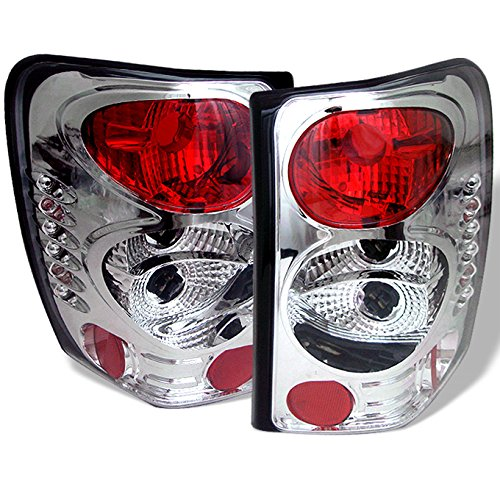 For 99-04 Jeep Grand Cherokee SUV Rear Tail Lights Brake Lamps Replacement Pair Left + Right Taillamps ()