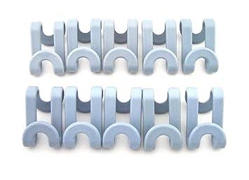 Amazon.com: 20pcs plástico forma de S en cascada colgadero ...