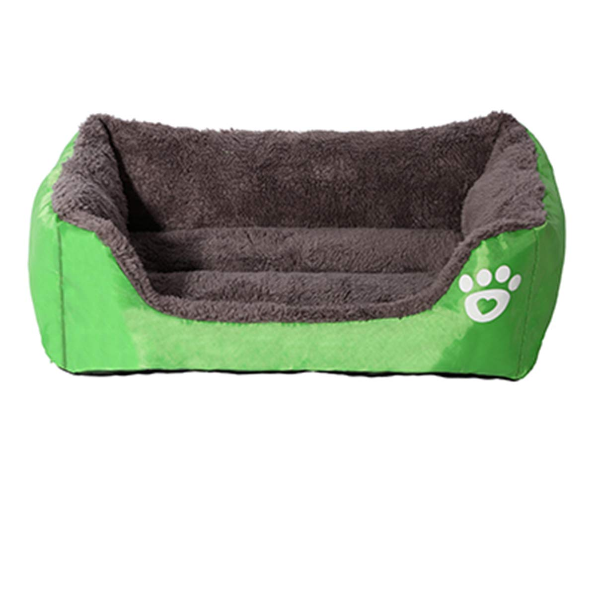 Green XXL green XXL PETFDH Pet Dog Bed Warming Dog House Soft Material Nest Dog Baskets Fall and Winter Warm Kennel for Cat Puppy Green XXL