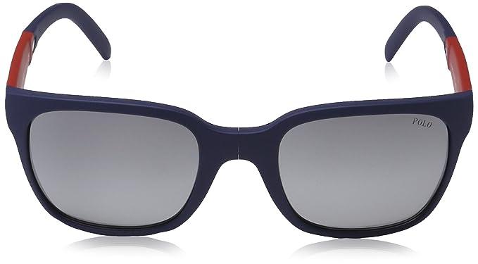 Polo Ralph Lauren Herren Sonnenbrille 0Ph4089 56516R, Braun (Havana/Flashgreen), 54