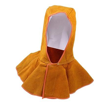 MagiDeal Casco de Soldadura Capucha de Protección Cabeza Cuello Tapa Sombrero Resistente al Calor