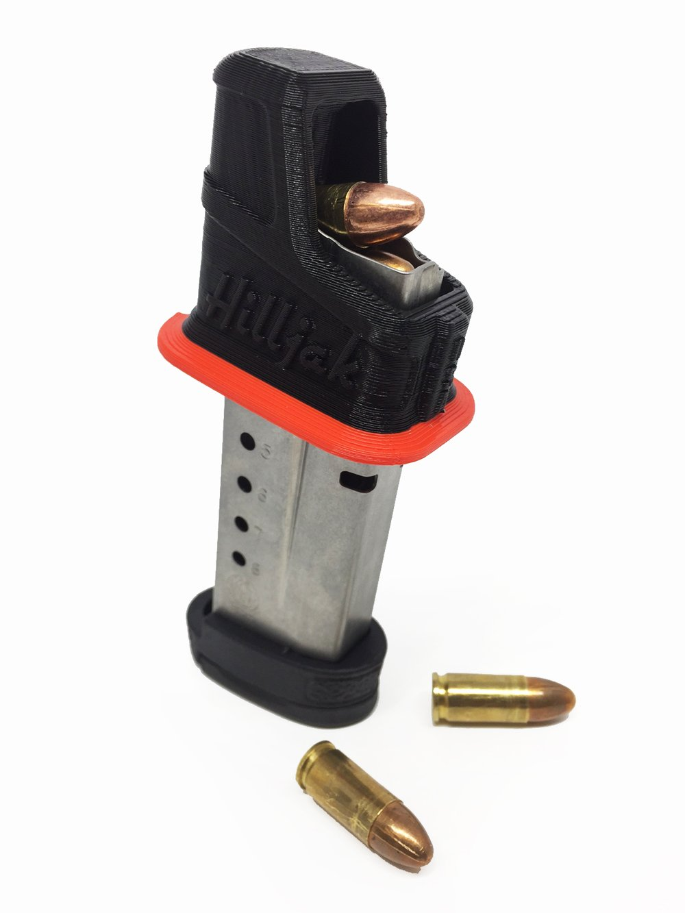 Smith & Wesson M&P Shield 9mm single-stack magazine loader by Hilljak - Red Stripe