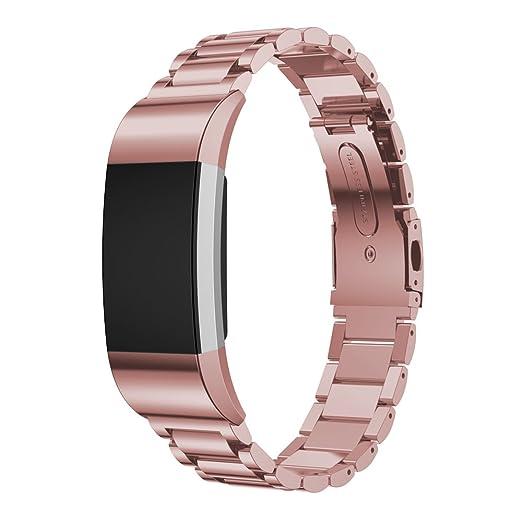 2 opinioni per Cinturino Fitbit Charge 2, IVSO Watch Band Strap Cinturino Orologio in Acciaio