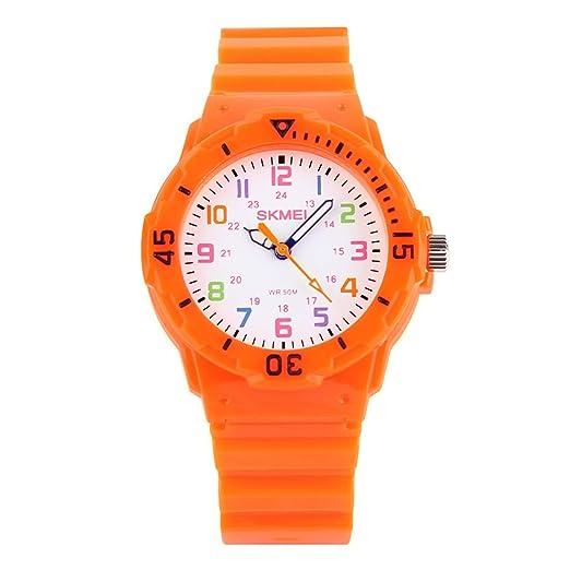 Reloj analógico de Cuarzo para niños, Reloj de Pulsera para Profesor, Dos Modos de