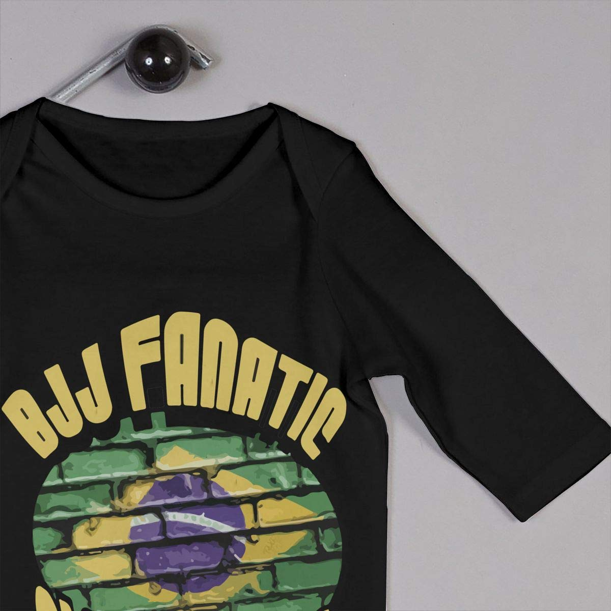 LBJQ8 BJJ Fanatic Globetrotter Brasilian Flag Newborn Infant Baby Girls Organic Cotton Bodysuits Coverall Jumpsuit