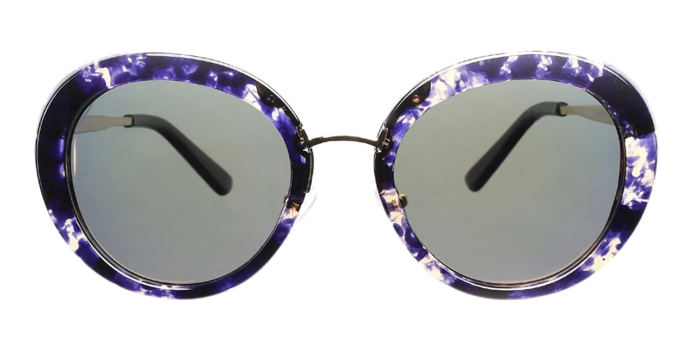 TIJN Lady's Round Galaxy Purple Sunglasses