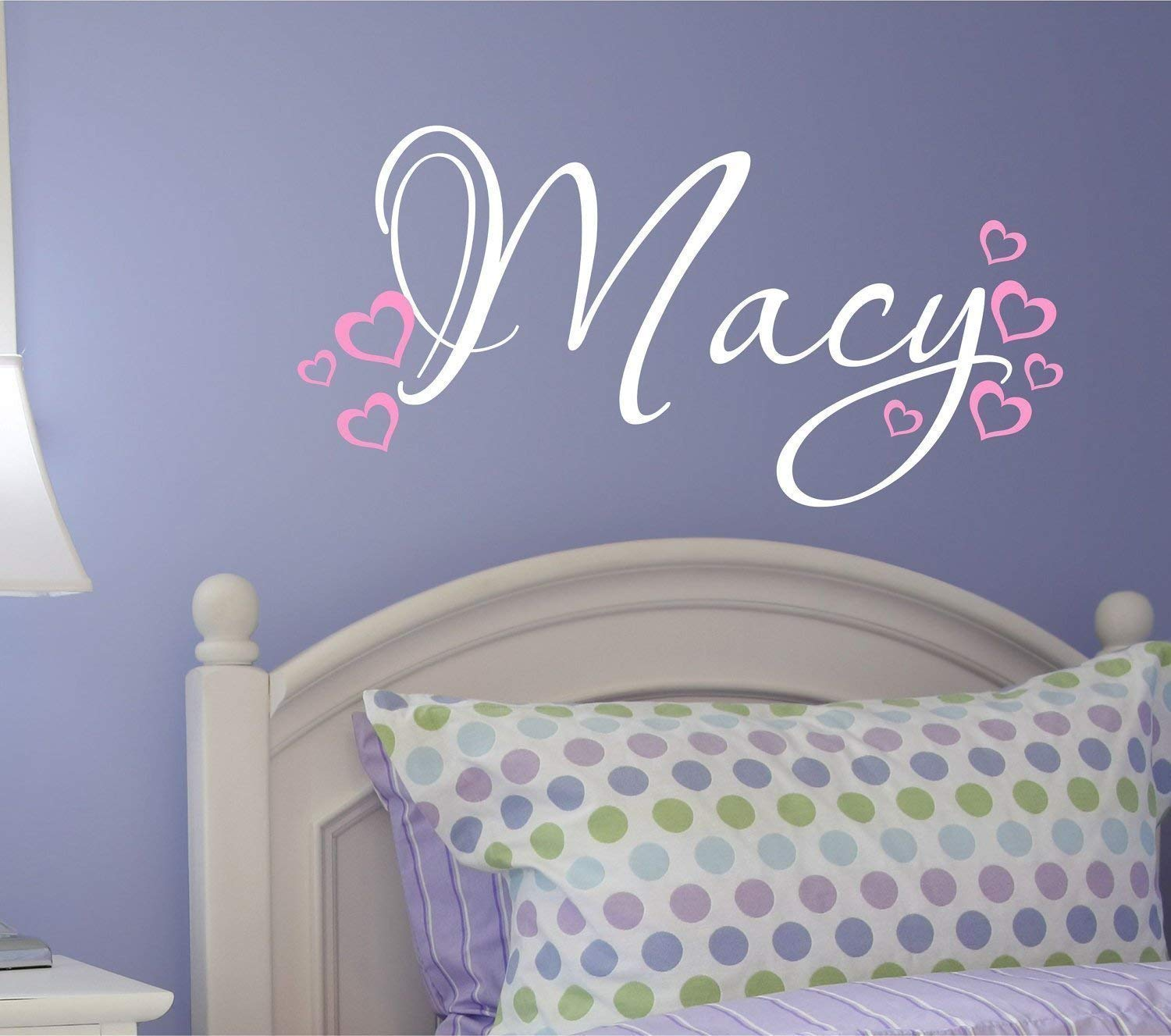 Nursery Wall Decal - Personalized Name Wall Decal with Hearts