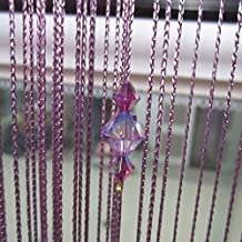 Purple Crystal Beads Curtain Window Door Passage Divider Party Decor