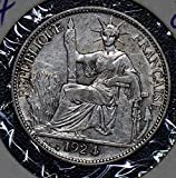 1924 IE 190194 French Indo China 20 Cents vintage silver DE PO-01