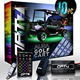 ezgo golf cart body parts - 10pc Aura Golf Cart Underbody Glow LED Lighting Kit | Multi-Color Accent Neon Strips w/Switch