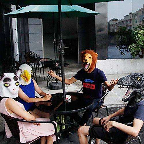 Waylike Lion Mask Latex Head Mask Rubber Animal Mask Novelty Costume Masks Yellow