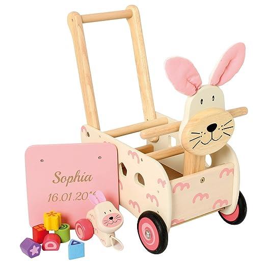 Regalo idee. Andador de de Conejo con Grabado: Amazon.es: Juguetes ...