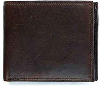 Trifold Wallets for Men Leather - Leather Wallets for Men Personalized - Money Clip Wallets for Men with ID Window - Large capacity Trifold Wallet retro coin purse