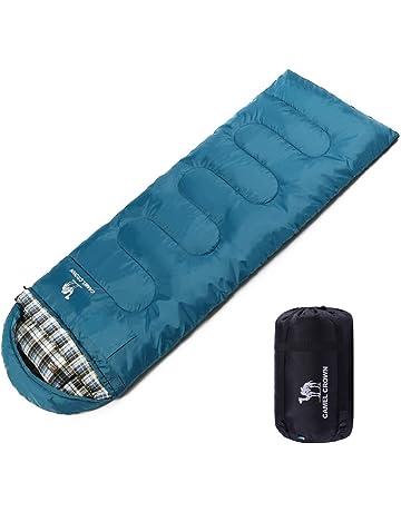 CAMEL CROWN Saco de Dormir Algodón Portátil con Almohada Saco de Compresión al Aire Libre 4