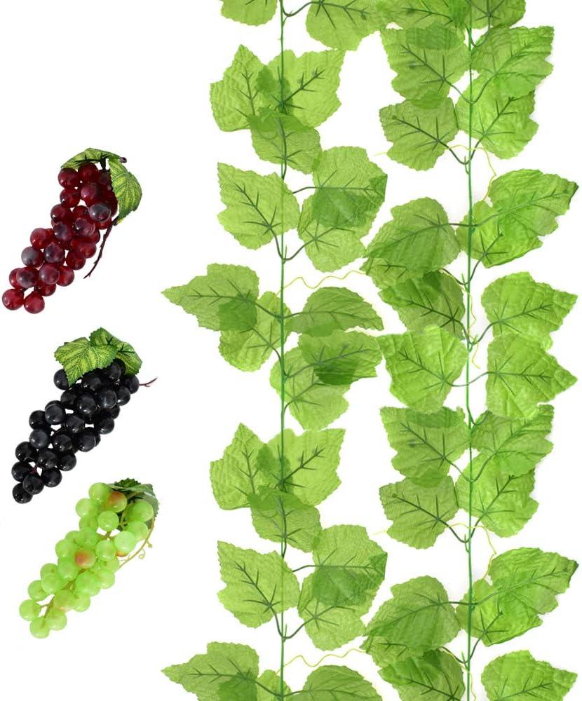 12 Pcs//Pack Artificial Grape Vine Creative Simulation  Flowers for Store
