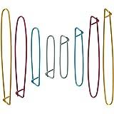 SelfTek 8 Pieces Yarn Stitch Holder Set Knitting Needle Stitch Hooks 4 Sizes Random Colors