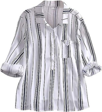 alikeey Camisa Blanca Mujer Abrigo Mujer Invierno Gran tamaño ...