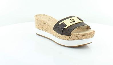 9ec2d84f041 Michael Michael Kors Warren Platform Wedge Sandal (9) Brown
