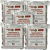Emergency Food Rations 5 Pack - 3600 Calorie Bar - 15 Day Supply - Less Sugar and More Nutrients Than Other Leading Brands - (5 Year Shelf Life)