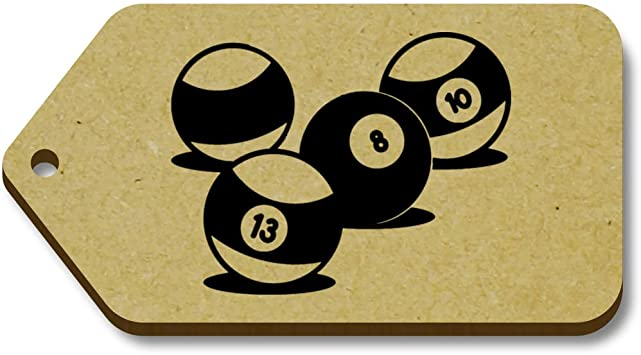 Azeeda 10 x Bolas de Billar Regalo/Equipaje Etiquetas (TG00058349): Amazon.es: Juguetes y juegos