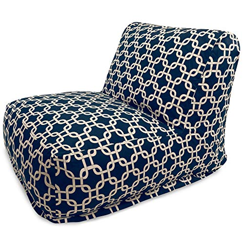 Majestic Home Goods Navy Blue Links Bean Bag Chair Lounger